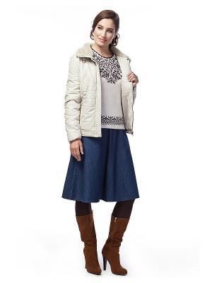 Куртка Vilatte. Цвет: бежевый