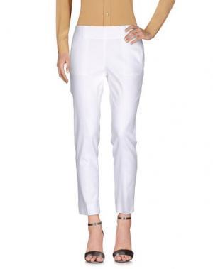 Повседневные брюки VDP COLLECTION. Цвет: белый