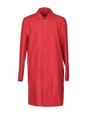 Легкое пальто DUNHILL. Цвет: красно-коричневый