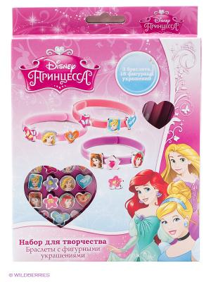 Набор для создания украшений браслеты  принцессы Disney Multiart. Цвет: розовый