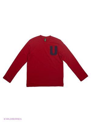 Лонгслив United Colors of Benetton. Цвет: красный, черный