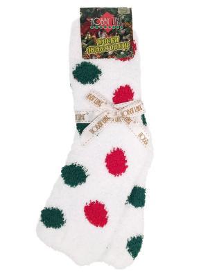 Новогодние носочки в подарочной упаковке HOBBY LINE. Цвет: зеленый, красный, белый
