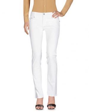 Повседневные брюки ROCCOBAROCCO. Цвет: белый