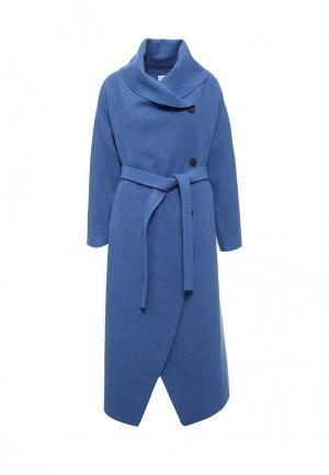 Пальто Voielle. Цвет: синий