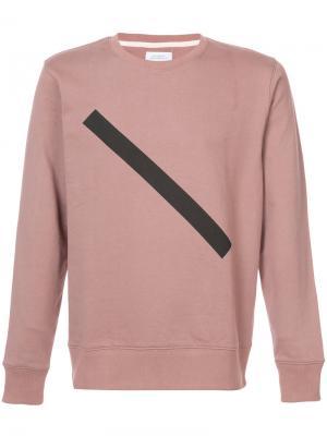 Толстовка с геометрическим принтом Saturdays Nyc. Цвет: розовый и фиолетовый