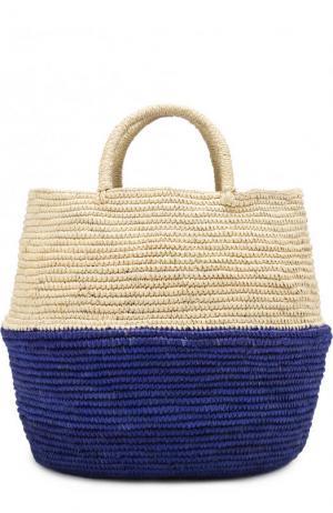 Сумка пляжная из соломки Artesano. Цвет: фиолетовый