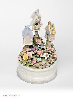 Музыкальная фигурка Птичкин дом Pavone. Цвет: белый, бледно-розовый, сиреневый, желтый