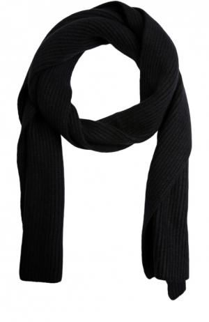 Вязаный шарф из кашемира Johnstons Of Elgin. Цвет: черный