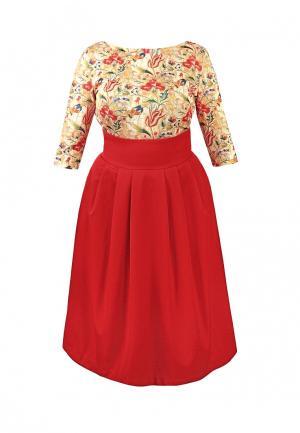 Платье Spicery. Цвет: бордовый