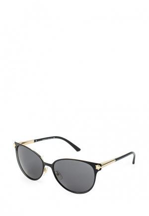 Очки солнцезащитные Versace. Цвет: черный