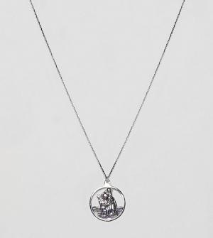 ASOS Серебряное ожерелье с подвеской DESIGN. Цвет: серебряный