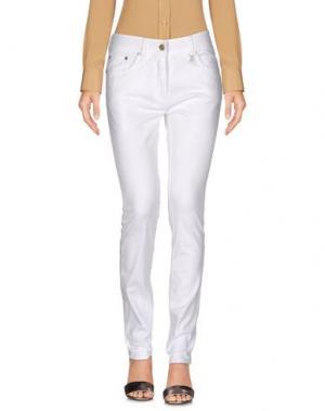 Повседневные брюки CORTE DEI GONZAGA. Цвет: белый