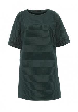 Платье oodji. Цвет: зеленый