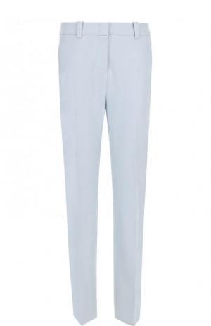 Укороченные однотонные брюки со стрелками Windsor. Цвет: голубой
