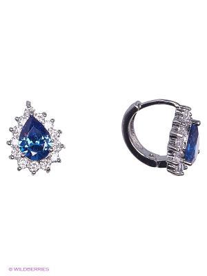 Серьги Lovely Jewelry. Цвет: голубой