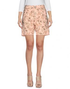 Джинсовые шорты TWIN-SET JEANS. Цвет: лососево-розовый