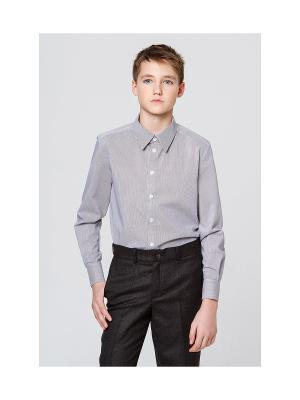 Рубашка MORU. Цвет: серый, коричневый