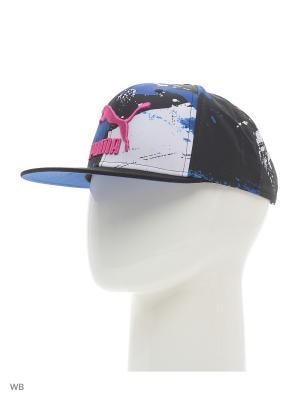 Бейсболка LS ColourBlock SnapBack Puma. Цвет: черный, синий, розовый