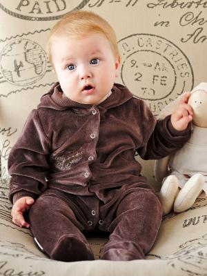 Комбинезон Lucky Child. Цвет: коричневый