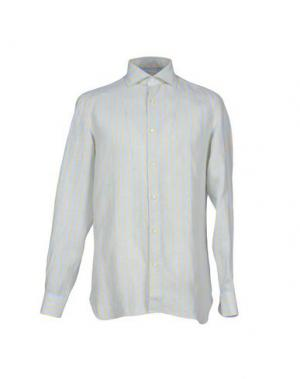 Pубашка LUIGI BORRELLI NAPOLI. Цвет: желтый