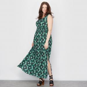 Платье длинное TAILLISSIME. Цвет: рисунок пальмы
