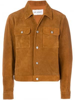 Куртка на кнопках Our Legacy. Цвет: коричневый