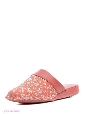 Тапочки Pansy. Цвет: светло-коралловый
