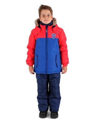 Комбинезон зимний: куртка и брюки Premont. Цвет: синий, красный