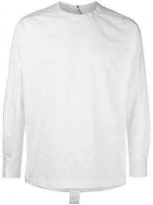 Рубашка с контрастной панелью Oamc. Цвет: белый