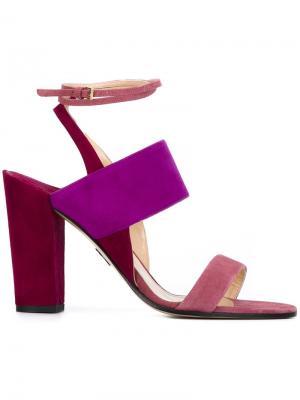 Босоножки на массивных каблуках Paul Andrew. Цвет: розовый и фиолетовый