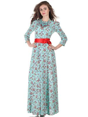 Платье OLIVEGREY. Цвет: бирюзовый, красный