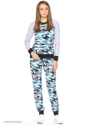 Костюм-толстовка и брюки на манжетах NAGOTEX. Цвет: серый