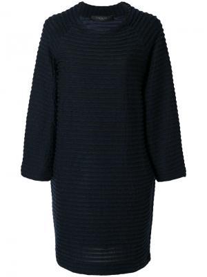 Платье шифт в полоску Federica Tosi. Цвет: синий