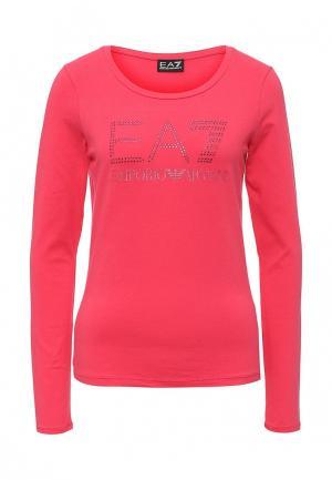 Лонгслив EA7. Цвет: розовый