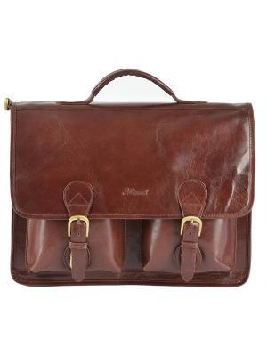 Портфель Ashwood Leather. Цвет: светло-коричневый
