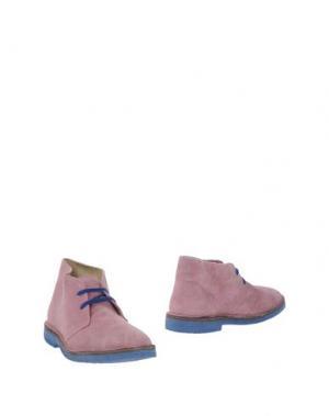 Полусапоги и высокие ботинки WALLY WALKER. Цвет: розовый