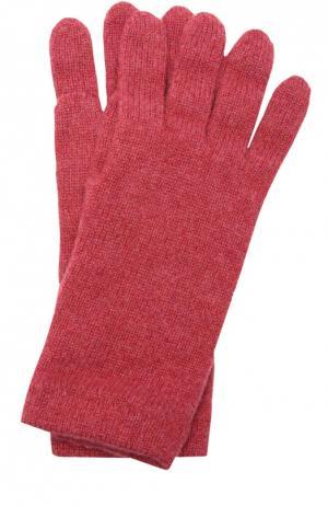 Вязаные перчатки из кашемира Johnstons Of Elgin. Цвет: розовый