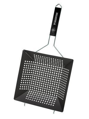 Сковорода-гриль с антипригарным покрытием Forester. Цвет: черный