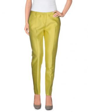 Повседневные брюки TRUE ROYAL. Цвет: светло-желтый