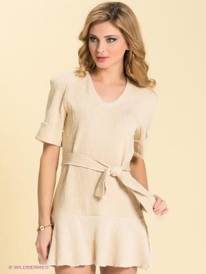 Платье LOVE&LIGHT. Цвет: молочный, золотистый