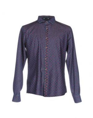 Джинсовая рубашка BLY03. Цвет: синий