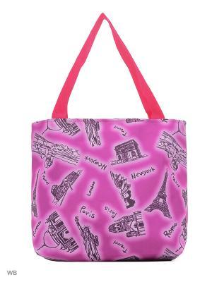 Сумка хозяйственная L.Bags. Цвет: розовый