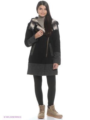 Куртка MAT MIX PARKA Adidas. Цвет: черный, серый