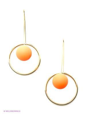 Серьги Lastoria. Цвет: оранжевый