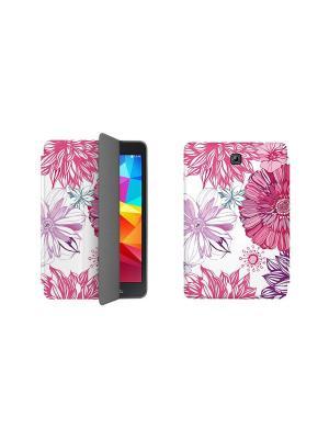 Дизайнерский чехол-книжка для Samsung Galaxy Tab S2 9.7. Цветы 6 With Love. Moscow. Цвет: синий, желтый