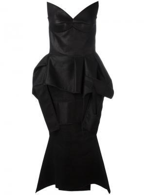 Платье с без бретелек баской Maticevski. Цвет: чёрный