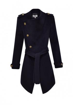Пальто Bergamoda. Цвет: синий