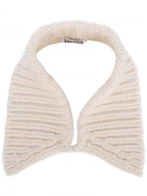 Cable knit collar Arthur Arbesser. Цвет: белый
