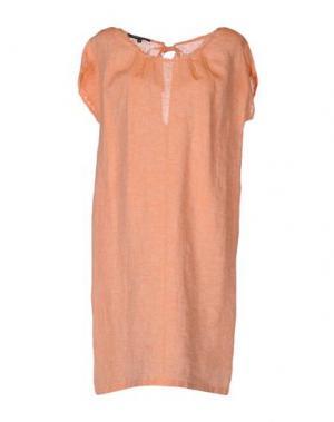 Короткое платье WALTER VOULAZ. Цвет: лососево-розовый