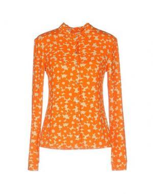 Pубашка SIYU. Цвет: оранжевый